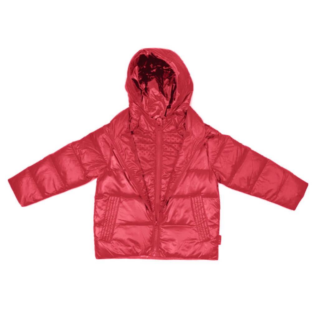 Car Seat Safety  Road Coat®Down Jacket - Red