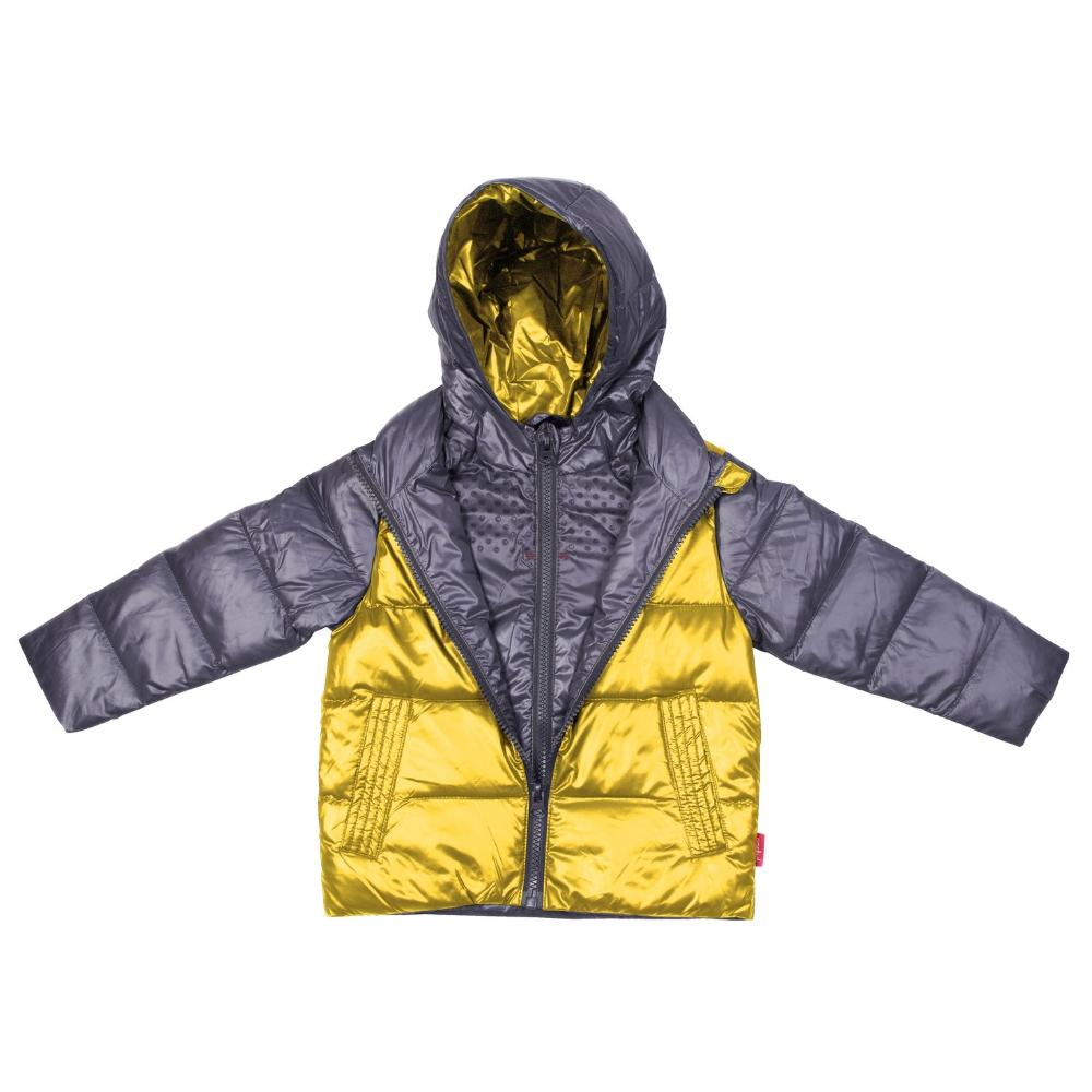 Car Seat Safety  Road Coat®Down Jacket - Platinum / Yellow