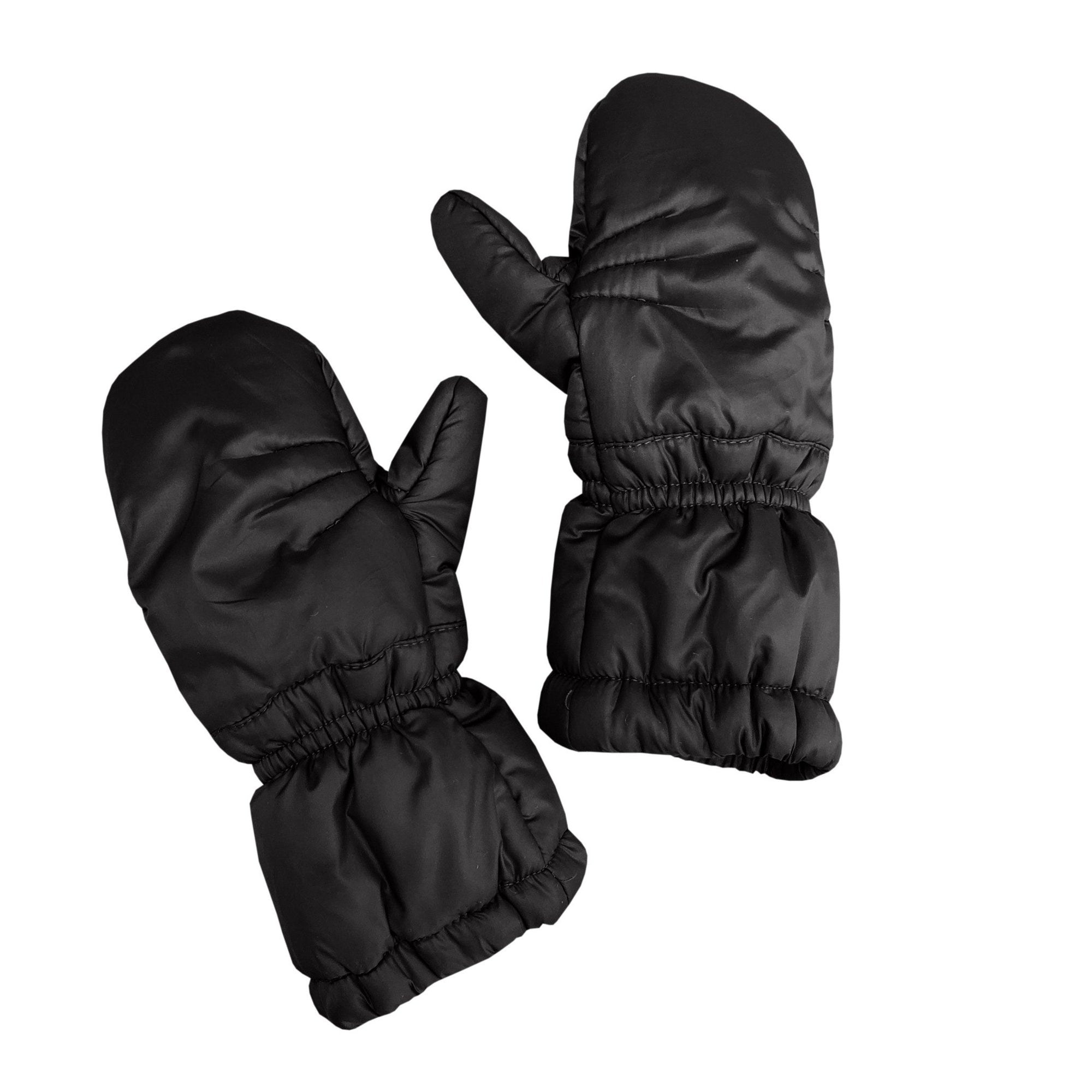 Puff Mittens - Black