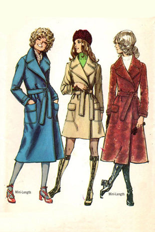 Simplicity 9665 Vintage 1970s Coat Sewing Pattern