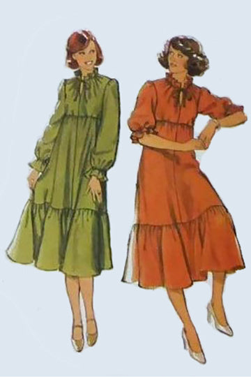 Style 2488 Vintage Sewing Dress Pattern 1970s