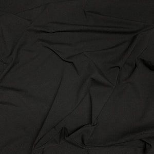 black cotton jersey knit fabric swirl