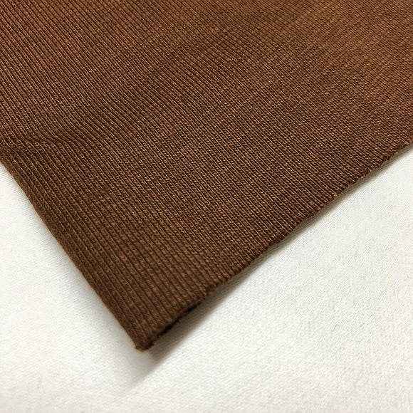 Cotton Ribbing - Brown
