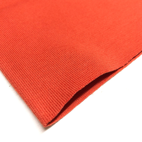 Cotton Ribbing - Burnt Orange