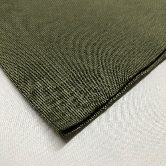 Cotton Ribbing - Olive