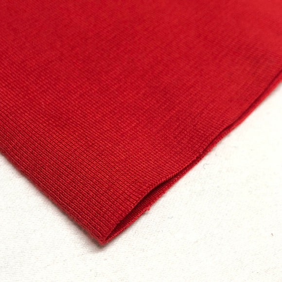 Cotton Ribbing - Red