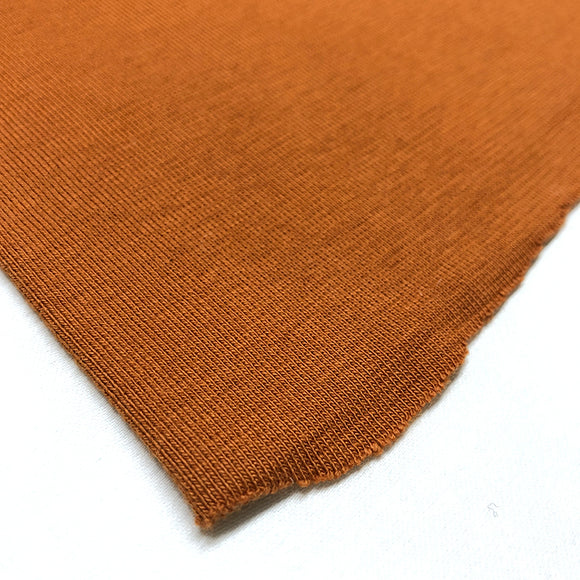 Cotton Ribbing - Rust