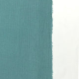 sea green double gauze fabric selvage