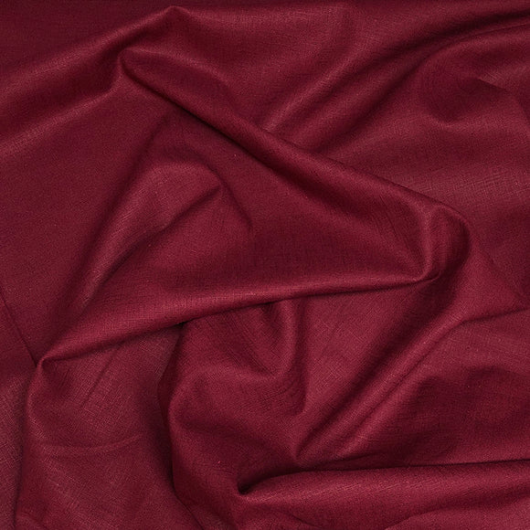 Washed Linen - Burgundy