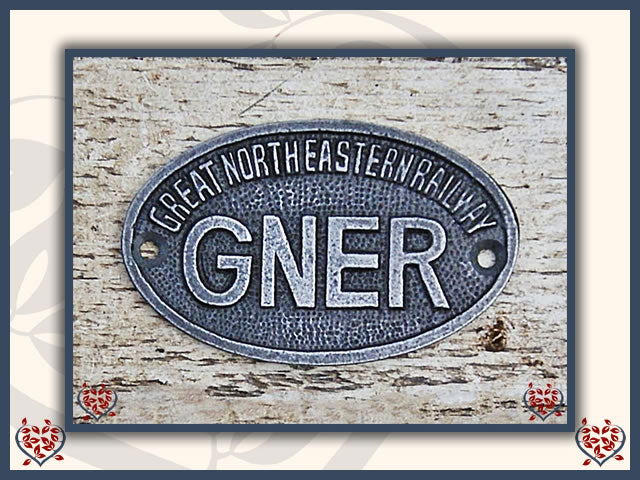 OVAL CAST IRON PLAQUE ~ GNER | Wall Art - Paul Martyn Interiors