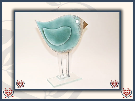 BIRD TEAL ~ LARGE | Nobile Glass Animal - Paul Martyn Interiors