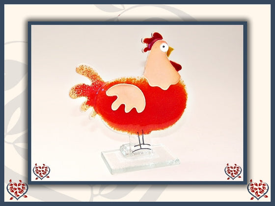 HEN ~ RED | Nobile Glass Animal - Paul Martyn Interiors