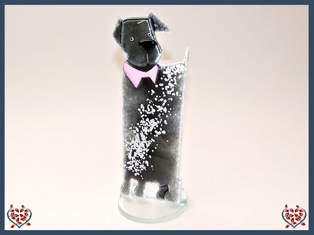 PUPPY DOG SMALL ~ GREY | Nobile Glass Animal - Paul Martyn Interiors