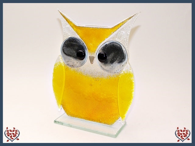 OWL LARGE ~ YELLOW | Nobile Glass Animal - Paul Martyn Interiors
