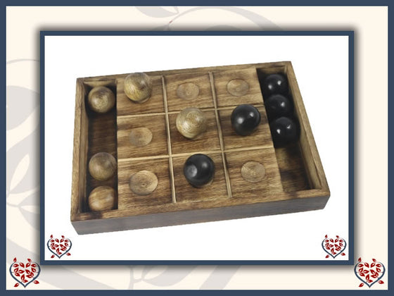 TIC TAC TOE ~ MANGO WOOD | Traditional Games