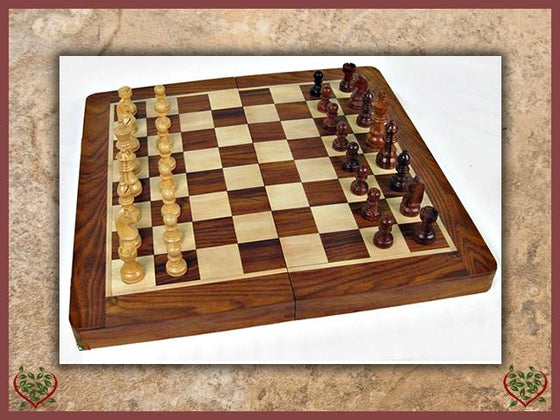 FOLDING CHESS SET | Traditional Games - Paul Martyn Interiors