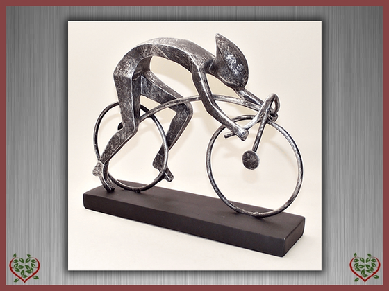 CYCLIST ~ SCULPTURE | Men's Gifts - Paul Martyn Interiors