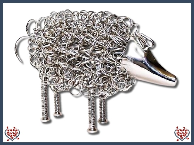 WIGGLE PIG ~ SILVER | Animal Figures - Paul Martyn Interiors