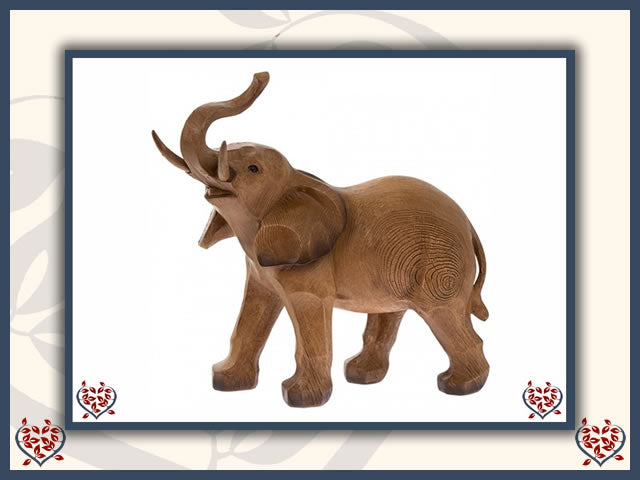 ELEPHANT FIGURE | Wooden Home Accessories