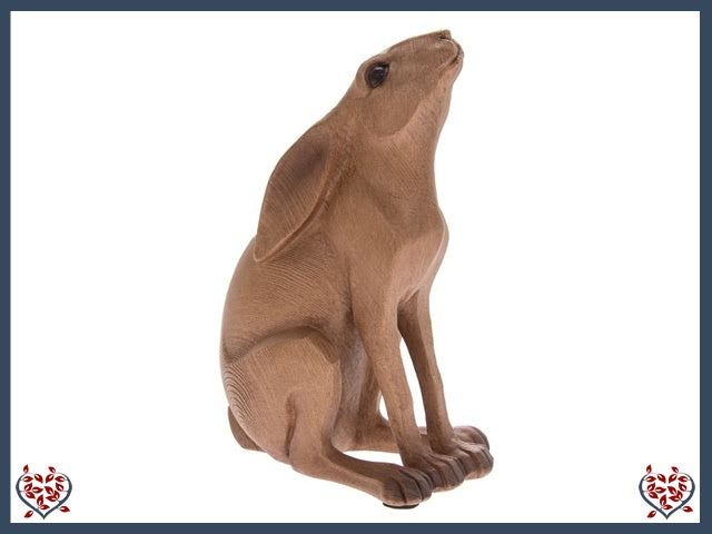 GAZING HARE WOODEN FIGURE | Wooden Home Accessories