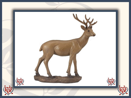 DEER WOODEN FIGURE | Wooden Home Accessories