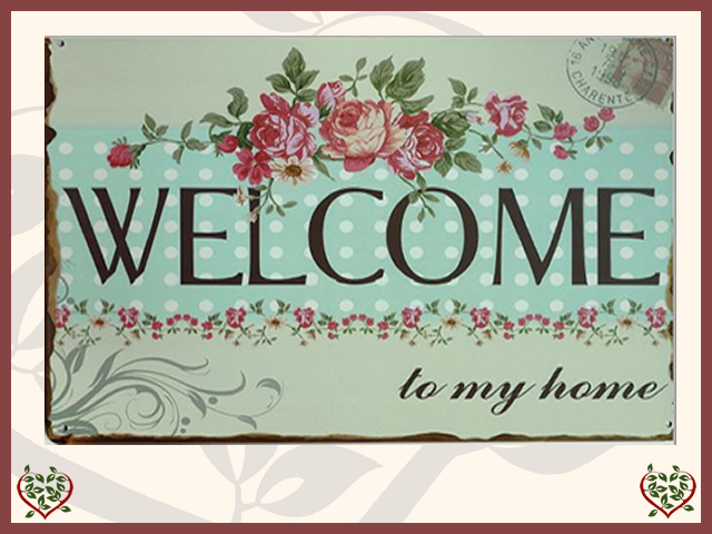 WELCOME METAL SIGN | Wall Art
