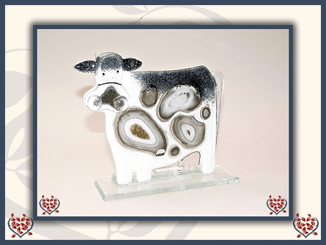 MOO MOO COW GREY ~ SMALL | Nobile Glass Animal - Paul Martyn Interiors