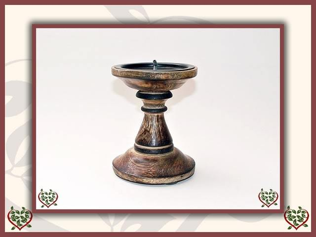 WOODEN CANDLESTICK ~ STYLE C | Wooden Home Accessories - Paul Martyn Interiors