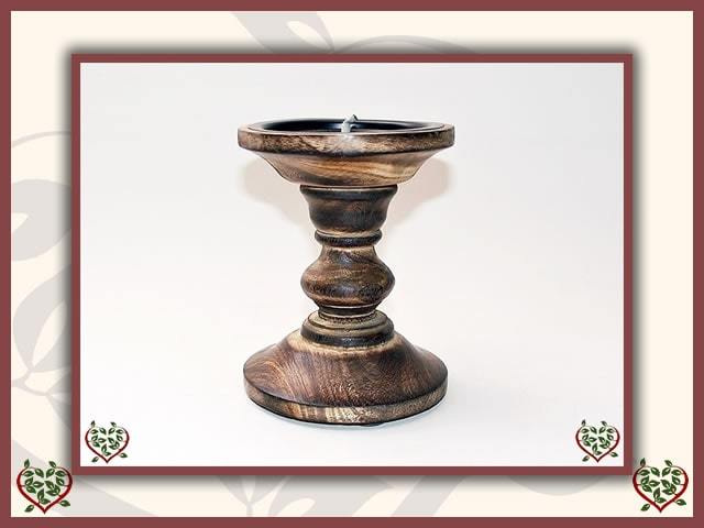 WOODEN CANDLESTICK ~ STYLE D | Wooden Home Accessories - Paul Martyn Interiors
