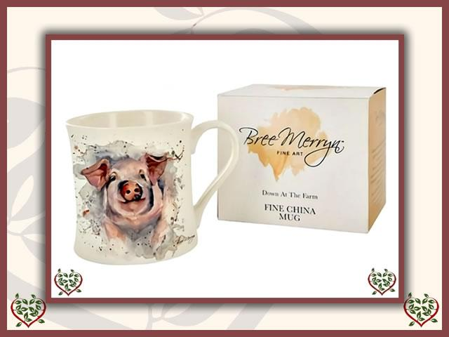 PATRICK THE PIG DOWN AT THE FARM ~ BREE MERRYN MUG | Mugs - Paul Martyn Interiors