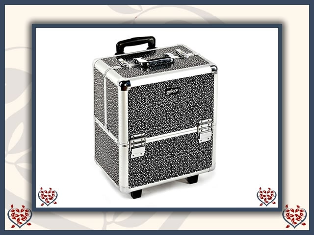 MAKEUP TROLLEY BOX ~ SILVER STARS | Vanity Cases - Paul Martyn Interiors