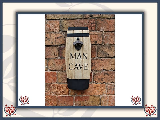 HANGING BEER BARREL BOTTLE OPENER | Wall Decor - Paul Martyn Interiors