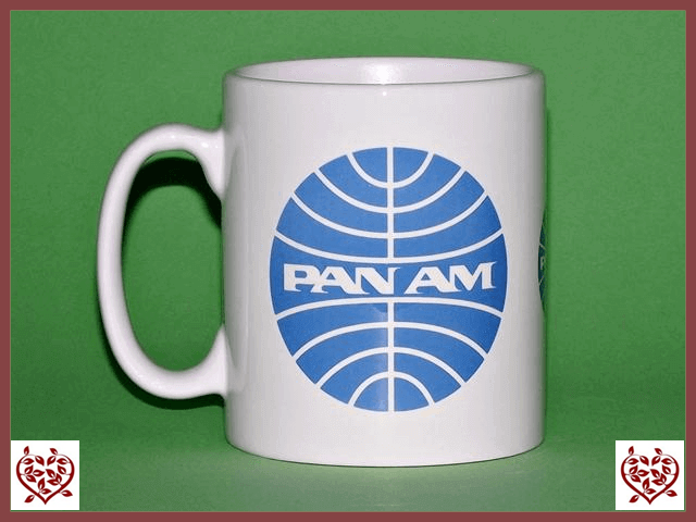 PAN AM AIRLINES LOGO MUG - Paul Martyn Interiors