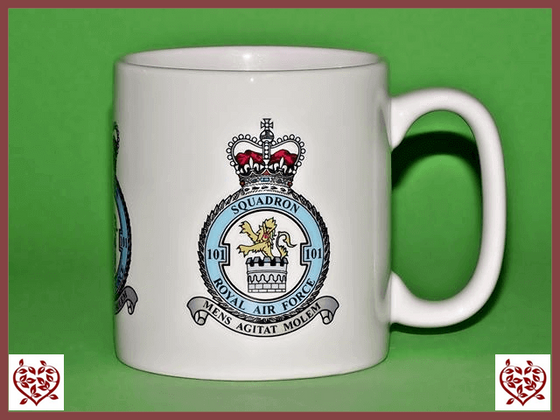 ROYAL AIR FORCE 101 SQUADRON LOGO MUG - Paul Martyn Interiors