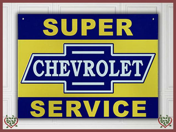 CHEVROLET SERVICE METAL SIGN | Wall Art - Paul Martyn Interiors