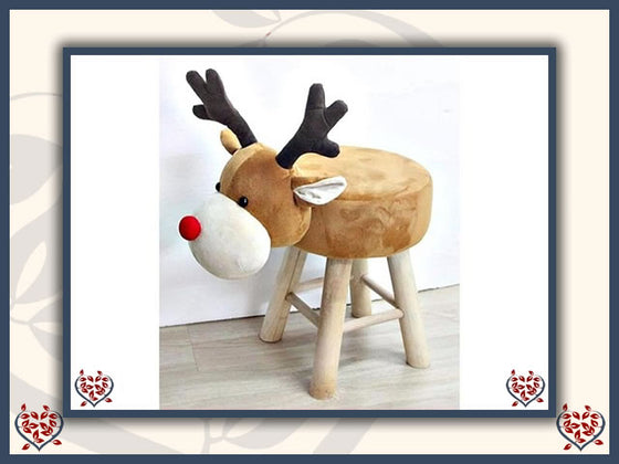 FLUFFY REINDEER FOOTSTOOL | Children's Furniture PRE-ORDER - Paul Martyn Interiors