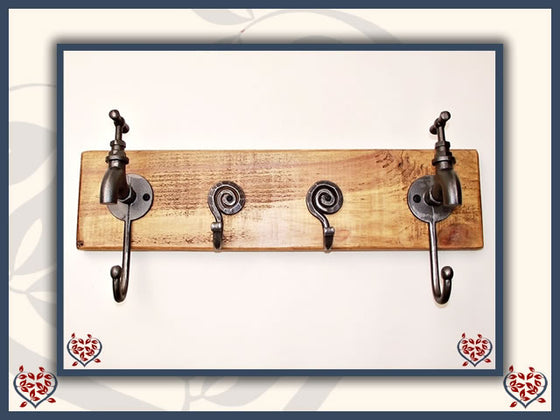 TAP UTILITY HOOKS ON RECLAIMED TIMBER BACKING | Hooks