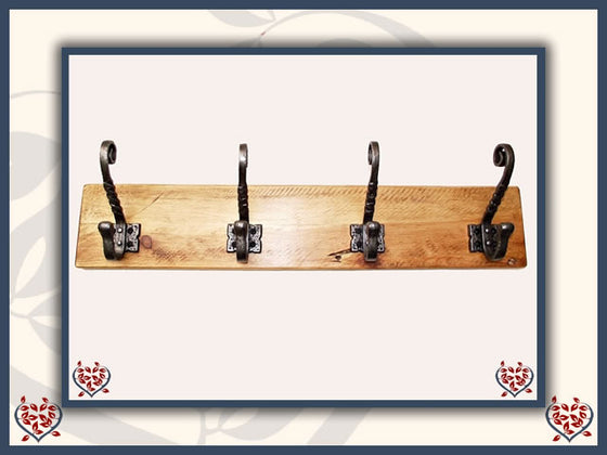 TWISTED METAL COAT HOOKS ON RECLAIMED TIMBER BACKING | Hooks