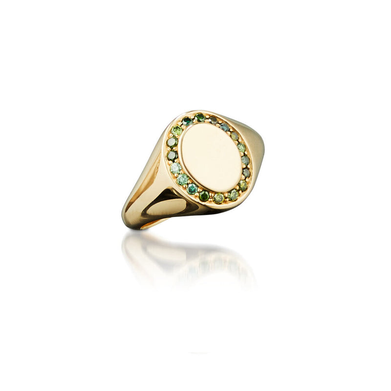 Saturn Gold Signet Ring