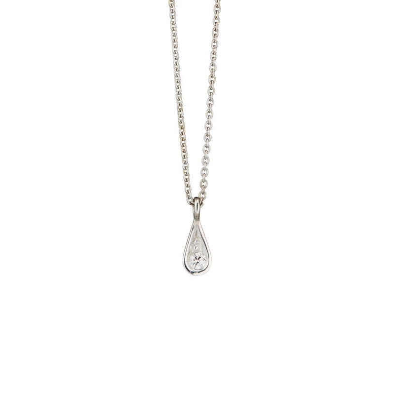 Aya White Gold Necklace