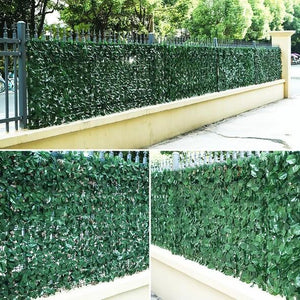 Green Leaf Plant Simulation Fence