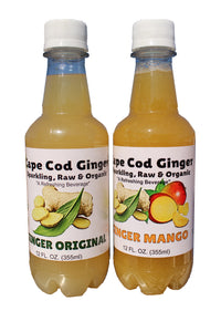 Organic Original and Mango (6 - 12oz  Bottles each of Original and Mango, 12 total)