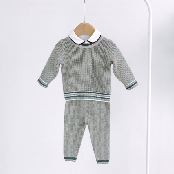knitted baby sweater set