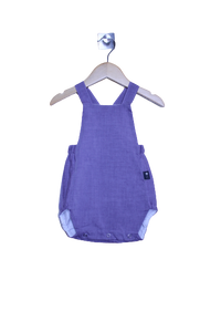 LR0015 Solid Lilac Heirloom Bubble Romper (6-9 mo.)