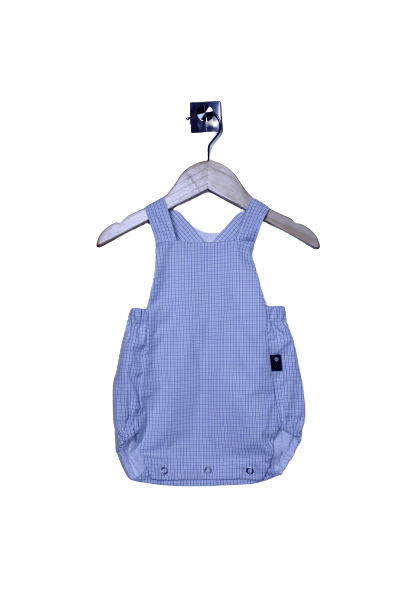 LR0015 Pin Striped Plaid Heirloom Bubble Romper (3-6 mo.)
