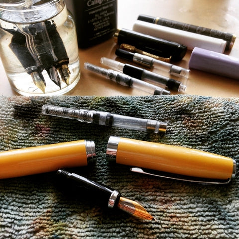 cleaning fountain pens