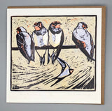 The Paper Papier Greetings Pack #3. Dry Red Press Birds Collection. Package of Seven Cards.