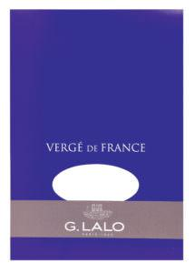 G. Lalo Vergé de France Writing Tablet - l11450 - Small - Extra White writing tablet G. Lalo