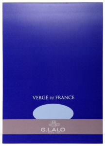 G. Lalo Vergé de France Writing Tablet - l12702 - Large - Blue writing tablet G. Lalo