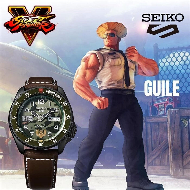 SEIKO 5 Sports Street Fighter V GUILE SRPF21K1 街頭霸王V 限量發行9,999枚